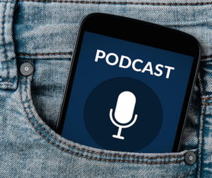 Podcast phone in pocket - Michelle Wells