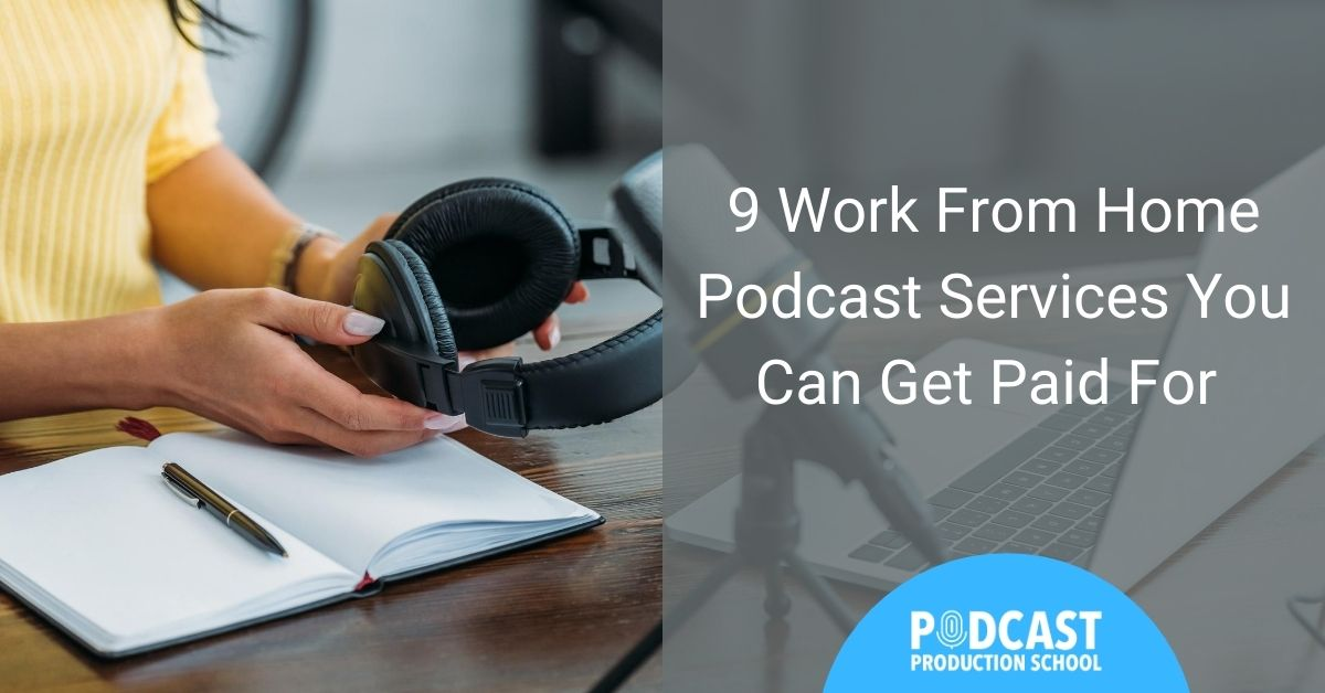 lady working at desk - 9 work from home podcast services