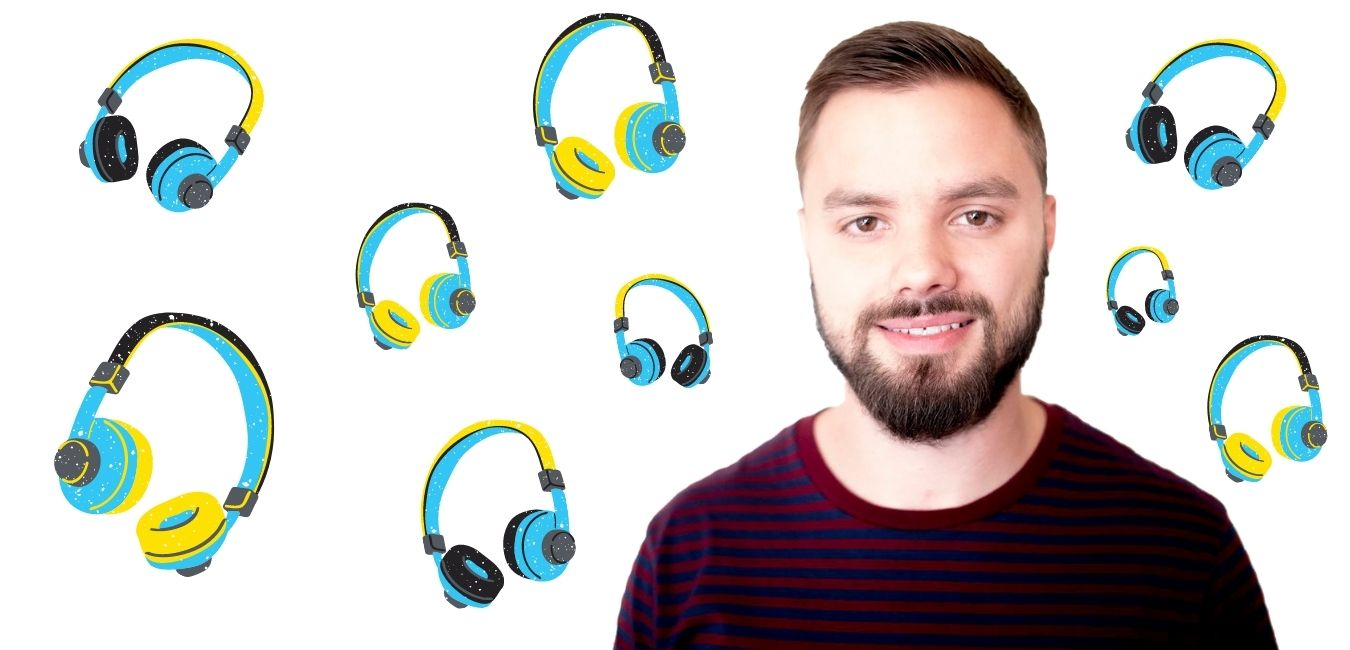 Review Podcast Production School with Zack Kempf - colored headphones